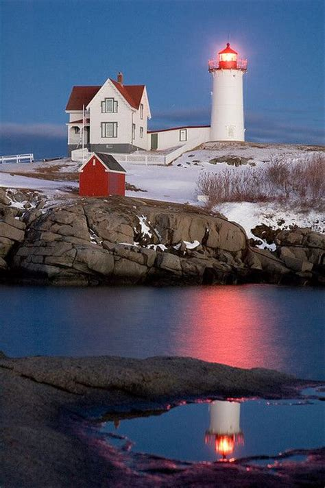 Nubble Light by Nubble Lighthouse York Maine Lighthouses Windmills