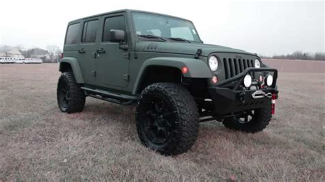 army green jeep rubicon 2015 custom jeep wrangler rubicon green kevlar lifted