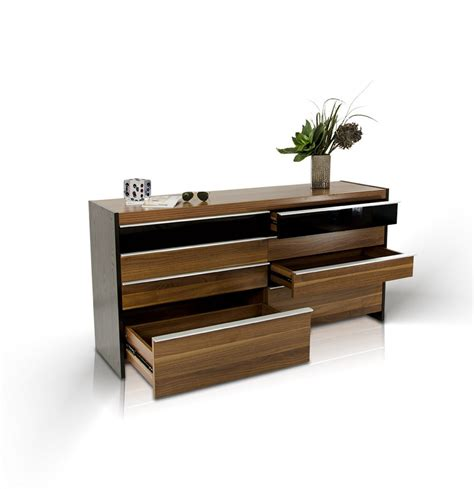 contemporary walnut bedroom furniture modrest rondo modern walnut bedroom set