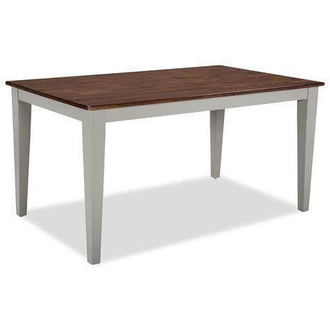 intercon small space two tone rectangular dining table