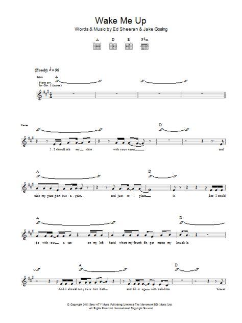 ed sheeran chord wake me up by ed sheeran guitar tab guitar instructor
