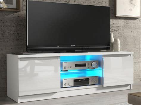 led tv furniture white gloss tv unit cabinet with glass shelf and led light