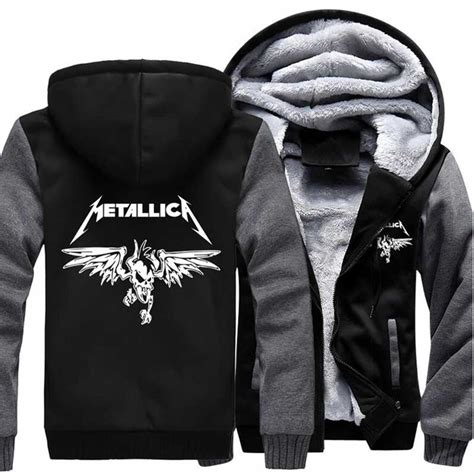 Jacket Sweater Hoodie Metallica 2017 tracksuit brand hip hop streetwear zipper fleece homme jacket classic rock heavy