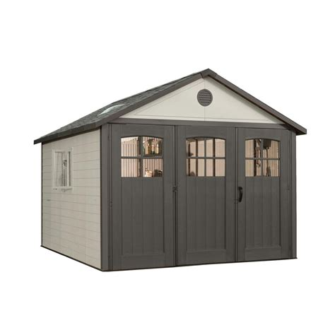 10 Ft Wide Shed Suncast Tremont 4 Ft 3 4 In X 8 Ft 4 1 2 In Resin