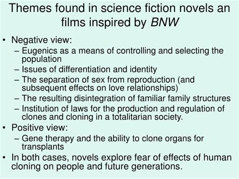 themes in science fiction films ppt bioethics through the lenses of literature and film