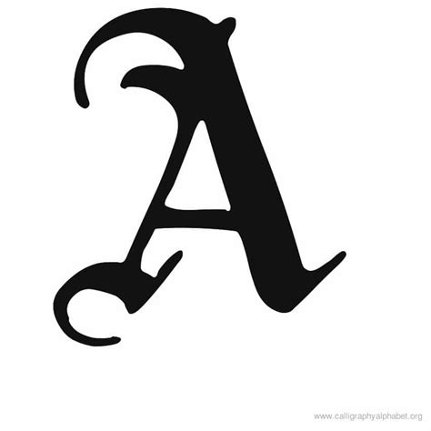 Letter A Images calligraphy alphabet a alphabet a calligraphy sle styles