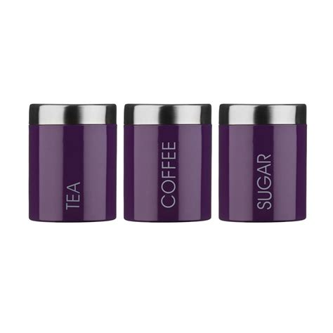 Purple Canister Set Kitchen by Looking Purple Canister Set 22 Modern Porcelain