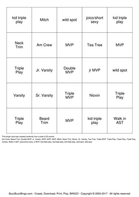 Sports Clips Gift Card - sport clips bingo cards to download print and customize