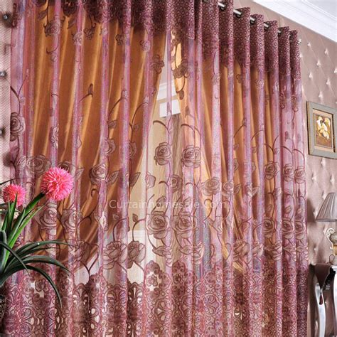 Jacquard Floral Living Room Great Model Home Curtains