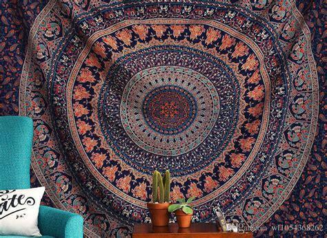 1 Kg 10 Pcs Boho Tassel Square Indiana Boho Murah wall hanging indian bohemian mandala tapestry picnic throw rug blanket cing tent