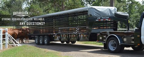 in trailer cm trailers all aluminum steel livestock cargo