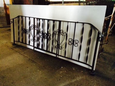 2 wrought iron railings porch entry railing 6 each