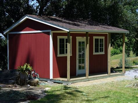 Shed Ranch by Pro Ranch With Porch On Side By Tuff Shed Storage