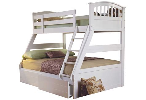 triple bed sweet dreams epsom white triple bunk bed solid wood