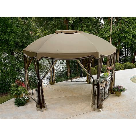 Garden Oasis Pergola With Canopy by Outdoor Oasis Gazebo 187 Backyard And Yard Design For