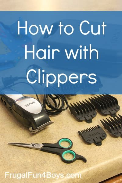 How To Cut Womens Hair With Clippers | boys haircut tutorials the organised housewife