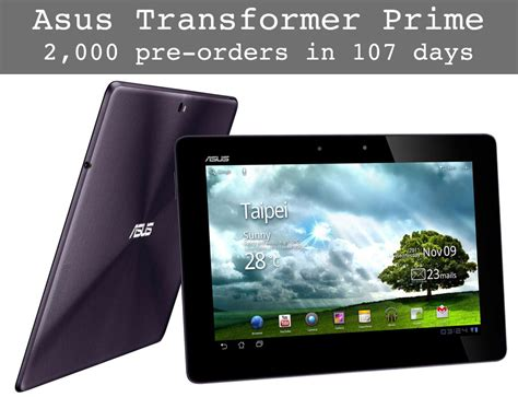 prime android 2 000 asus transformer prime android tablet pre orders in 107 days epic fail obama pacman