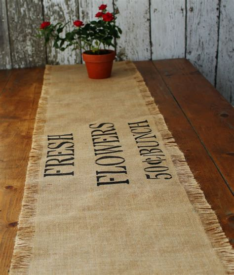 farmhouse style burlap table runners diy in 1 hour