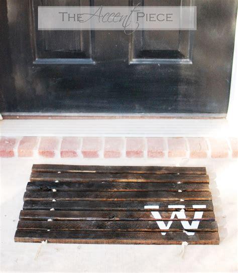 Wood Doormat by Kreations Done By Diy Wooden Doormat