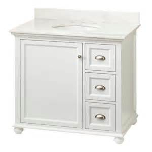 White Vanity Home Depot Home Decorators Collection Lort 37 In Vanity In White