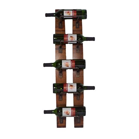Wine Bottle Rack by 2 Day Designs Reclaimed 5 Bottle Wall Mounted Wine Rack