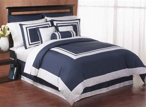 navy and white bedding navy and white hotel duvet comforter cover 6 pc bedding set only 139 99