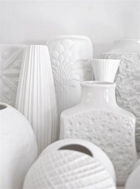 floreros kaiser mid century matte white porcelain vase kaiser botanical