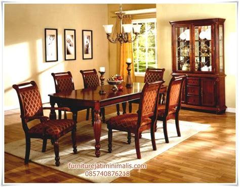Satu Set Meja Kursi Rias Jepara Kayu Jati Free Ongkir Furniture Murah meja kursi makan kayu jati meja makan meja kursi makan