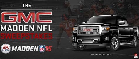 Nfl Sweepstakes - enter the gmc madden nfl sweepstakes meet the developers play the game early more
