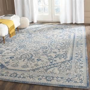 gray and blue area rug light grey blue safavieh power loomed cotton area rugs
