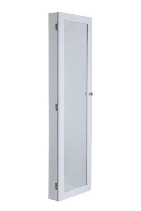 Wall Mounted Storage Cabinets With Doors Homegear Door Wall Mounted Mirrored Jewelry Cabinet Organizer Storage Ebay