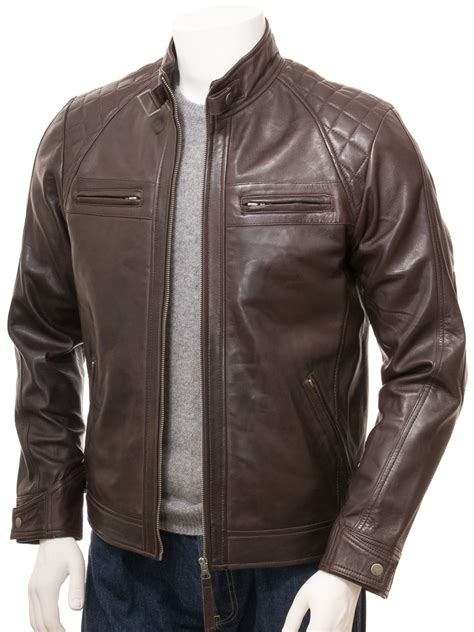 brown motorcycle jacket men s brown biker leather jacket sibiu men caine