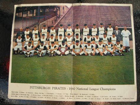 vintage  pittsburgh pirates national league champs team photo    bucs ebay