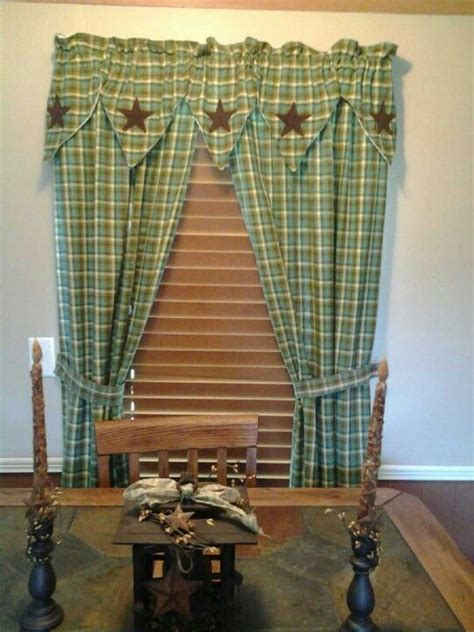 homespun curtains homespun primitive curtains primitive decor pinterest