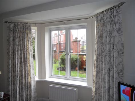 eyelet curtains on bay window 30 best curtain rail for bay windows ideas uk home decor