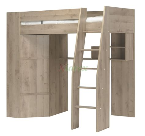 loft bed closet timber kids loft bunk beds with desk closet gautier gami