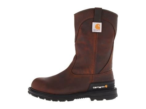 carhart boots carhartt wellington unlined safety toe boot zappos