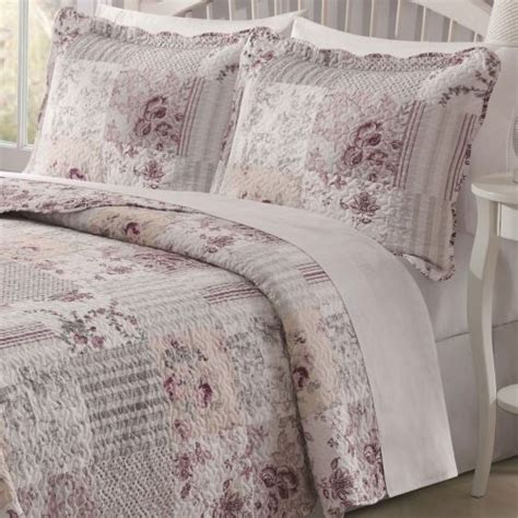 King Size Summer Quilt by Floral Patchwork 3 Pc King Size Summer Quilt