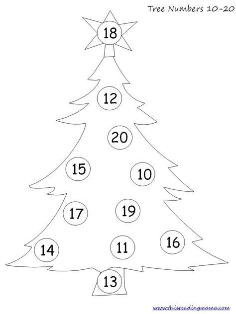 christmas tree math printable free christmas prek pack