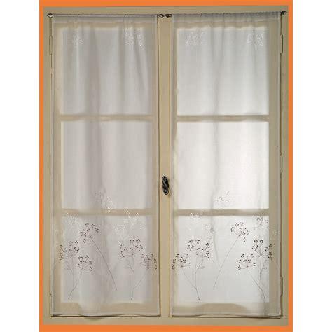 vitrage artifice 60x200cm ivoire voilage rideau voilage stores d 233 coration d 233 coration