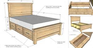 How To Build A Bed Frame With Drawers Underneath Creative Ideas How To Build A Farmhouse Storage Bed With