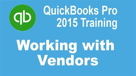 quickbooks tutorial simon sez quickbooks pro 2015 tutorial working with vendors in