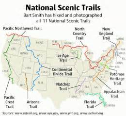 national scenic trails covers all the major hiking trails