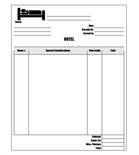 free hotel receipt template word inn