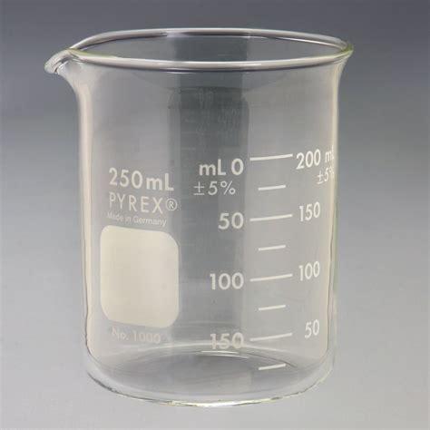 Breaker Glass 250 Ml Pyrex 174 Glass Griffin Beaker Low Form Measuring 250 Ml