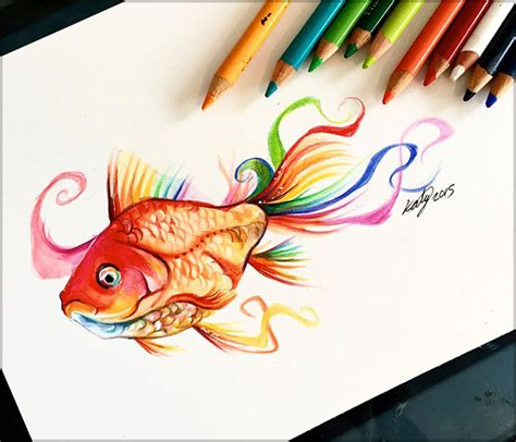 Colored Drawings 20 Amazing Colour Pencil Drawings By Katy Lipscomb by Colored Drawings