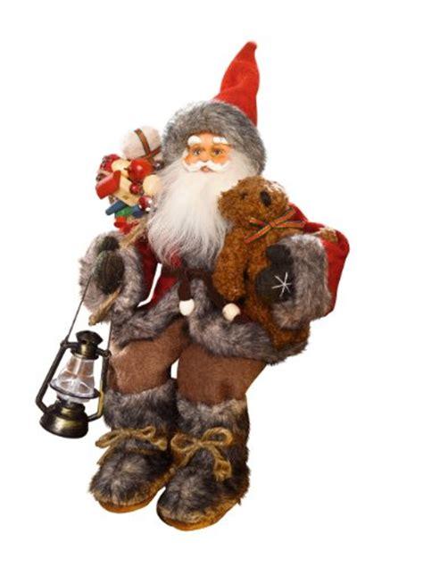 sitting father christmas santa claus figure fun christmas