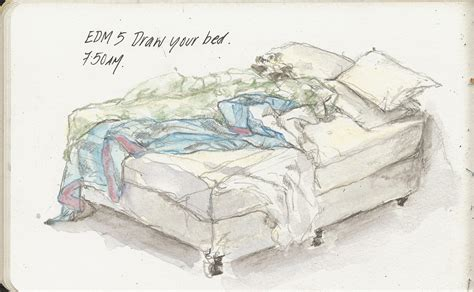 drawing of a bed 05may10 edm inedim draw your bed edm5 draw your bed unma flickr