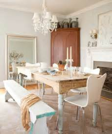 french farmhouse shab trendy dining chairs