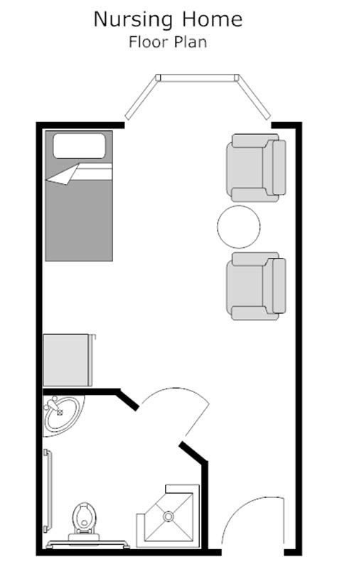 Nursing Home Layout Design Exle Image Nursing Home Room Floor Plan